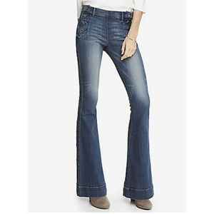 Express Belle Flare Mid Rise sailor jeans, NWT